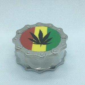 Classic rasta herb grinder